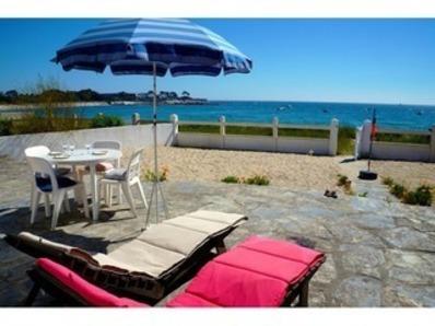 Location Maison 4 pièces 6 personnes -  vue mer privilégiée, à 10 m de la plage (Lomener)