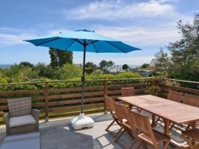Location Maison 4 pièces 7 personnes avec terrasse vue mer à 300 m de la plage.